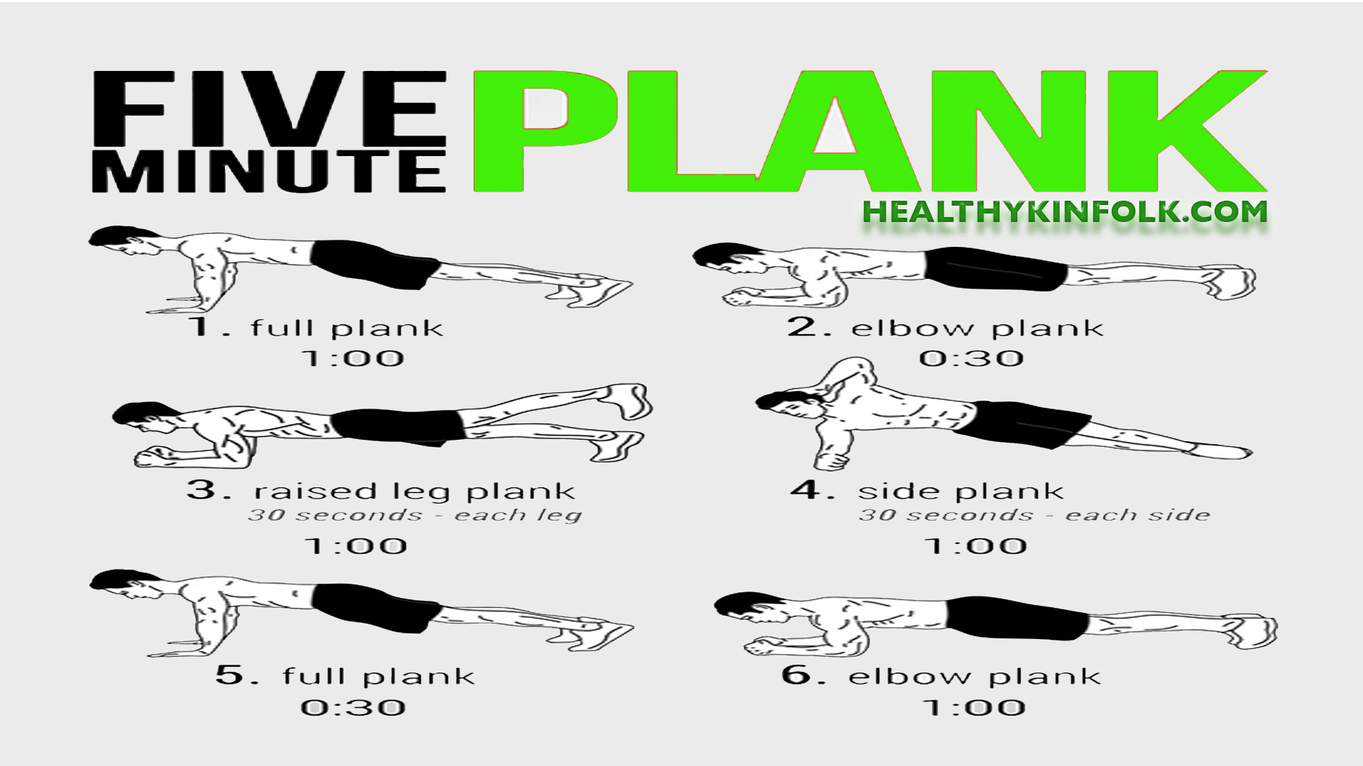 FIVE MINUTE PLANK WORKOUT ROUTINE
