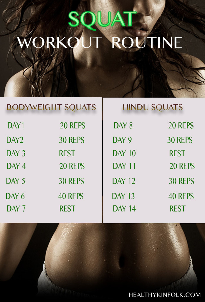 2 week squat workout routine